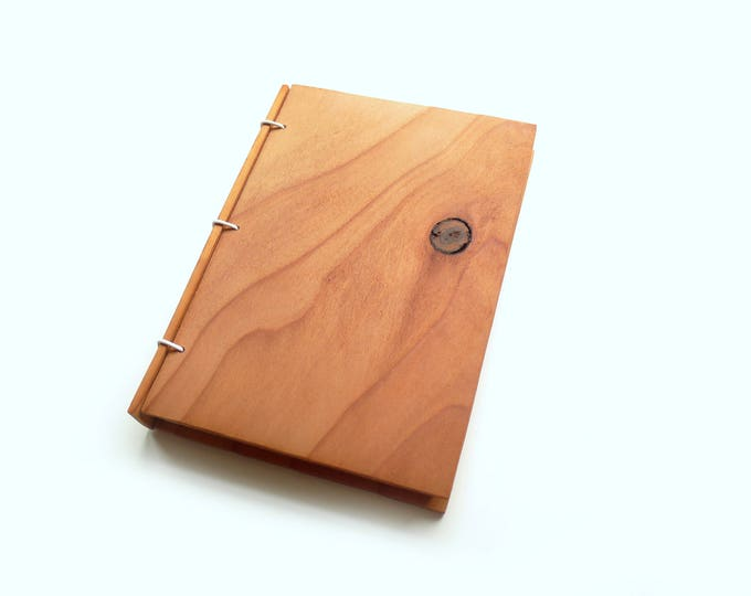 Featured listing image: 5x7 Redwood Wooden Notebook, Wood Guestbook, Gratitude Journal, Wood Journal, Engraved Notebook, Wooden Sketchbook, Custom Travel Journal