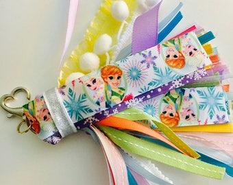 Elsa and Anna Frozen Planner Tassel Keychain Gift Party