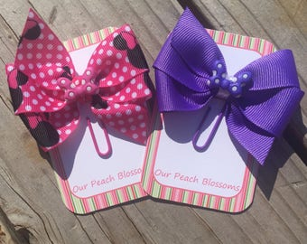 Minnie Mouse and Daisy Duck Disney Bow Planner Clips