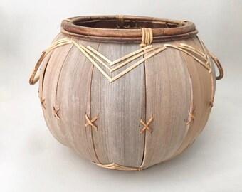 Fantastic Boho Style Round Basket