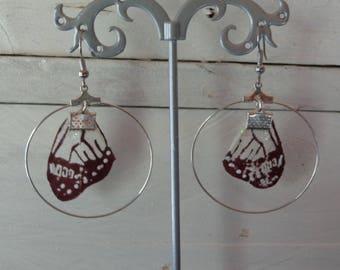 pair of earrings 925 Silver woodland fairy wings