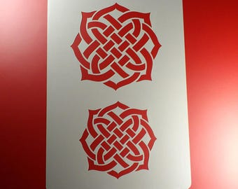 Stencil Celtic knot Braid-BA34