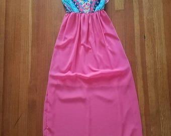 Pink Splatter Maxi Dress
