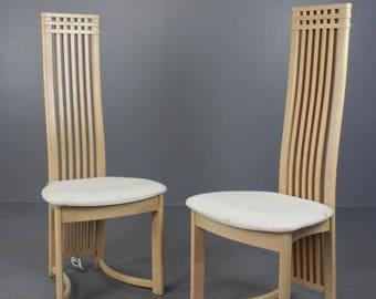 Pair Danish Marmohuset Dining Chairs
