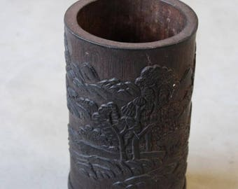 Carved Chinese Bamboo Vase