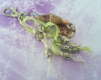 lime green Buddha zen romantic bag charm