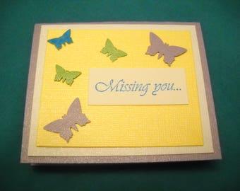 Colorful handmade greeting  card