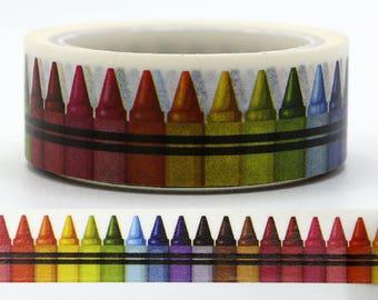 SALE!!Crayon Washi Tape/Japanese Washi Tape / Deco tape TZ2121