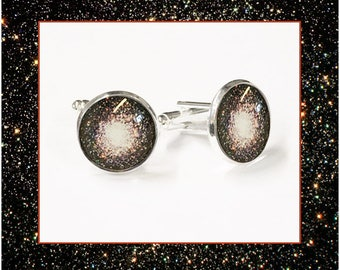 Star Cluster Cufflinks with Small Photo Card