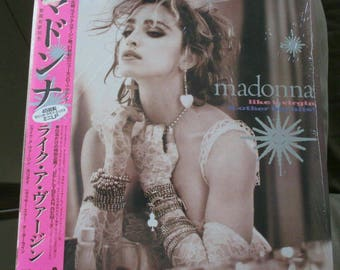 Madonna Like A Virgin JAPAN W/OBI 1984 Sire Records vinyl Rare P6206 NM!