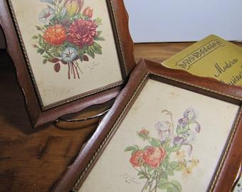 Two (2) T. L. Prevost Framed Botanical Prints - Wooden Frames