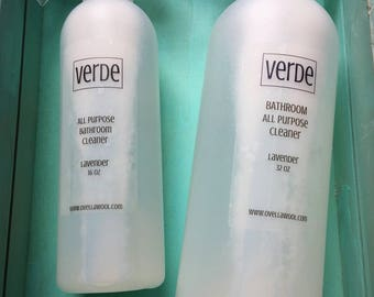 Verde All Purpose Bathroom Cleaner Spray Tea Tree Lavender Lemon Peppermint