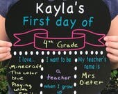 First Last Day Of School Board - Chalkboard Sign- Customize your own - Reusable Sign - End of School - chalkboard paper signs