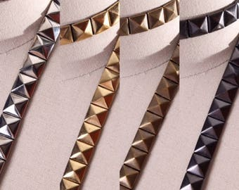 Iron on Stud Tape: Gold, Silver, Gunmetal and Antique Brass Edgy and Versatile