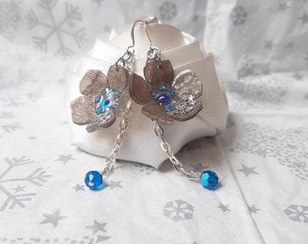 Earrings small flowers when the sequins are a party