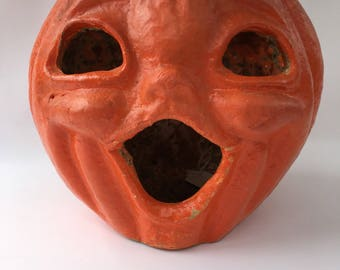 Large Vintage Paper Mache Pumpkin-Japan