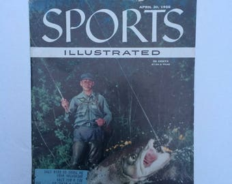 Vintage Sports Illustrated Magazine April 30 1956