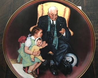 Tender Loving Care ~ Norman Rockwell ~ Collectible Plate ~ Limited Edition ~ Ones We Love Series ~Vintage