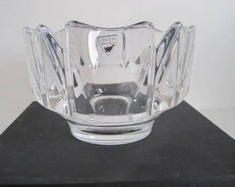 """Orrefors Sweden - Lars Hellsten - clear crystal bowl Corona - Diameter  5.75"""" / 14,5cm -"""
