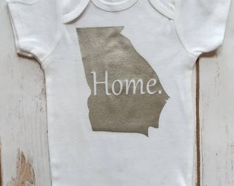 Georgia Home Onesie, Baby Onesie, Home Onesie, State Home Onesie, Baby Shower Gift Ideas, Onesie, Baby Girl Onesie, Baby Boy Onesie