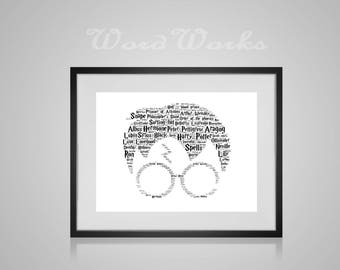"Harry Potter Personalised Word Art Printable Digital File / Downloadable   **Buy 3 prints get the 4th FREE**  Use coupon code "" MYFREEONE """