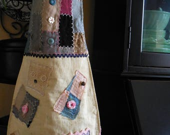 Country kitchen apron primitive apron rustic apron farmhouse apron