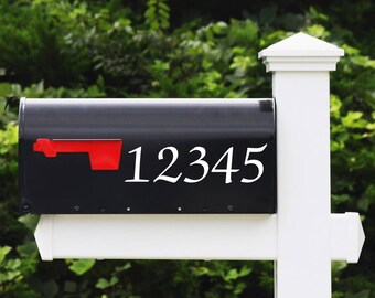 House Number Decal - Calligraphy - Mailbox Numbers, Address Number Stickers, Home Decor