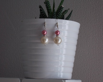 "Romantic earrings ""Pinky Pearl"""