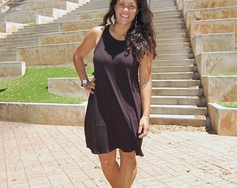 Black RADIANT TANK DRESS // tank top dress, black dress, summer dress, short dress