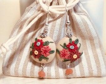 Filigree Fimo Earrings (2)