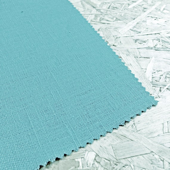 Linen Fabric Turquoise Turquoise Blue Blue fabric