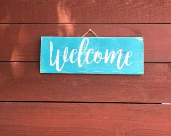 ON SALE Welcome sign