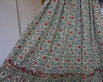 1950's Handmade Farm Girl Novelty Print Cotton Skirt Size XS
