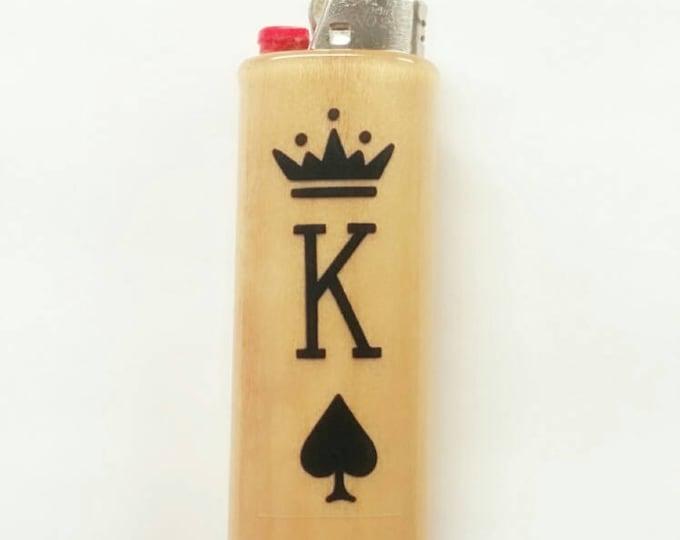 My King BIC Lighter Case Holder Sleeve Cover Gift for Him