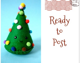 freestanding christmas tree felt christmas tree shelf sitter desk decoration mini christmas