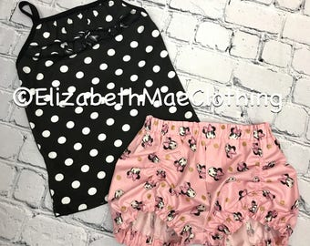 Metallic Minnie shorts set: only 2t left