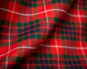 Vintage red plaid suiting...