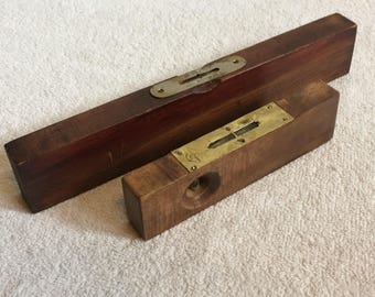 2 Vintage Small Wood Levels