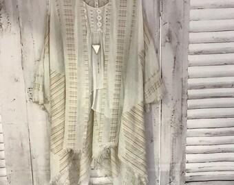 Gypsy Kiss Kimono - B U T T E R Boho Kimono Beach Cover Up, Chiffon Kimono, Long  Robe, Summer Kimono, Bohemian Print Kimono, Boho Fashion