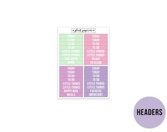 HEADERS   Spring Blossoms   Planner Stickers    Add on   Matte