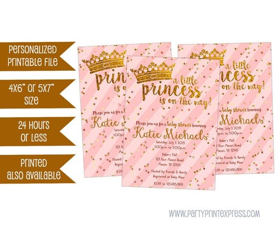 Old Fashioned image pertaining to free printable princess baby shower invitations
