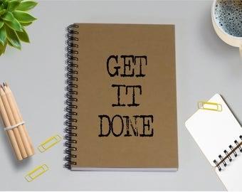 To Do List Notebook - Get It Done - 5 x 7 Journal, Notebook, Sketchbook, Diary, Scrapbook, Writing Journal