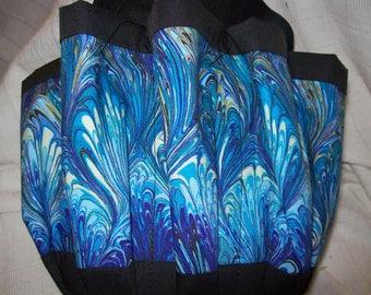 Shades of Blue Swirls Cloth Bingo Bag