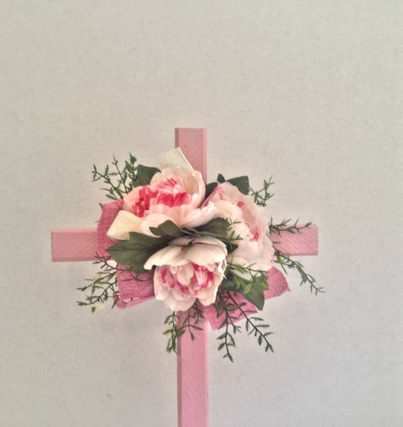 Cemetery flowers , Cemetery Cross, Grave flowers, Roadside Memorial, Grave Marker, Memorial Cross,