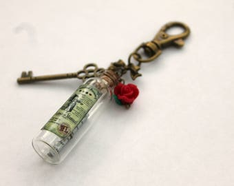 Alice In Wonderland Bag Charm Steampunk Charms Bottle Charm Gift Idea Gifts For Her