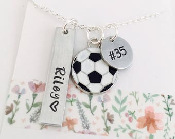 Personalized Soccer Necklace, Soccer Name Necklace, Soccer Team Necklace, Soccer Team, Girls Soccer Necklace , Custom Soccer Necklace