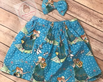 Frozen fever skirt and bow