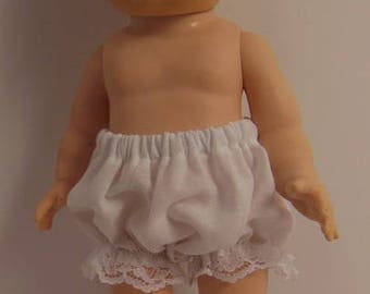 "White Cotton Under Panties for 11"" American Character Tiny Tears Dolls"