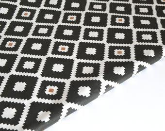 Geometric cotton fabric by 50 cm