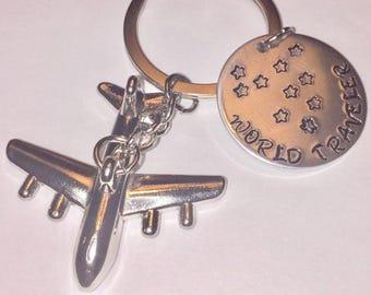 Pilot Keychain, airplane keychain, traveling Keychain, vacation Keychain